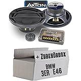 BMW 3er E46 - Lautsprecher Boxen Axton ATC26 | 16cm 2-Wege Kompo System Auto Einbauzubehör - Einbauset