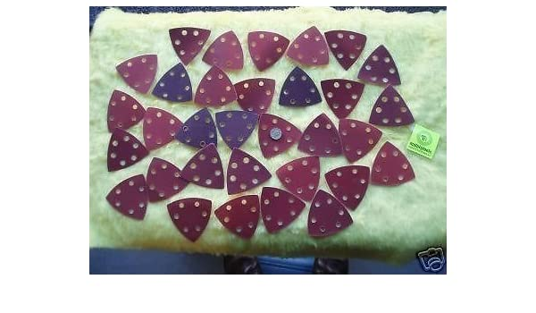 Toolzone Lot de 10 triangles abrasifs /à velcro pour ponceuse 90 mm
