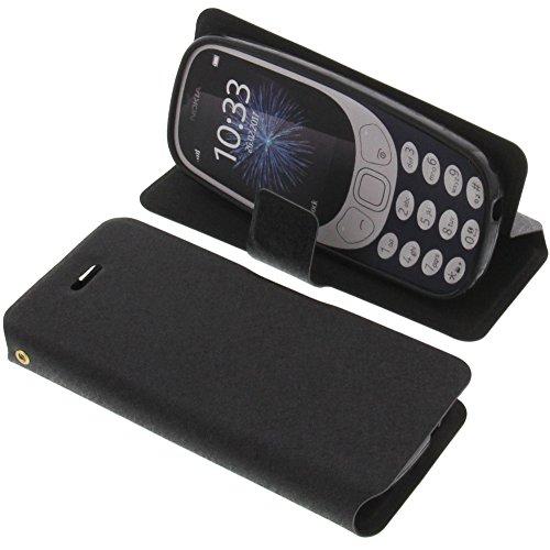 Custodia a Libro per Nokia 3310 (2017) di Colore Nero