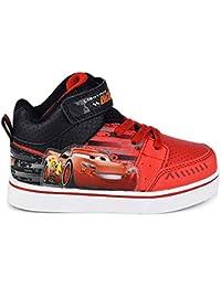 the best attitude d0444 d5370 Disney Pixar Toddler Boys Cars Lightning McQueen Red Black Light-up  High-Top Sneaker
