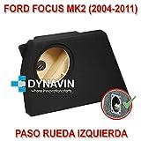 DynavinBoitier acoustique pour subwoofer spécifique pour niche de coffre de Ford Focus MK2(2004–2011)