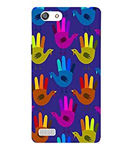 Fiobs hands illusion into hens ducks creativity art Designer Back Case Cover for Oppo Neo 5 :: Oppo A31 :: Oppo Neo 5S 2015