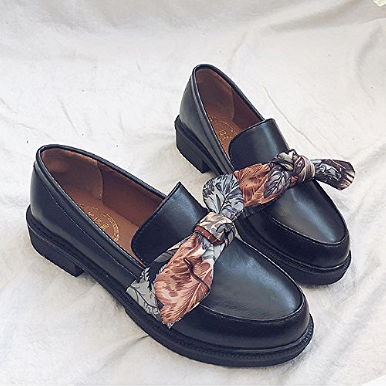 GAOLIM Kleine Schuhe Studentinnen Im Frühjahr Wilden Rauhen Track Schuhe Mit Niedrigen Bow Tie Schuhe Frauen Schuhe