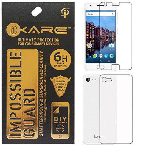 Lenovo Z2 Plus Screen Protector Front/Back, iKare Impossible Fiber Tempered Glass Screen Protector for Lenovo Z2 Plus (REUSABLE, ULTRA CLEAR, REAL SHOCK PROOF, UNBREAKABLE)