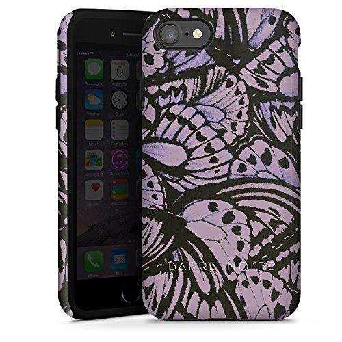 Apple iPhone X Silikon Hülle Case Schutzhülle Schmetterlinge Flügel Lila Tough Case glänzend
