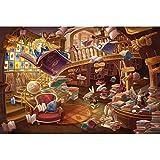 Excellent Adulti di Legno di Puzzle del Giocattolo educativo Creativo del Regalo Castello Amore, Fiaba Llustration, Legno Jigsaw Puzzles 1210 (Color : F, Size : 3000pc)