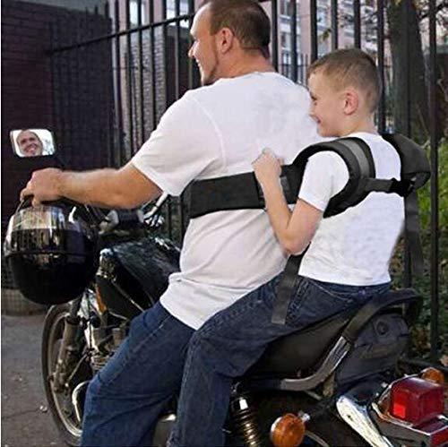 BOLLAER Kinder-Motorrad-Sicherheitsgurt, verstellbarer Motorrad-Sicherheitsgurt für Kinder, fester Kindersitz schützt Kinder vor dem Herunterfallen