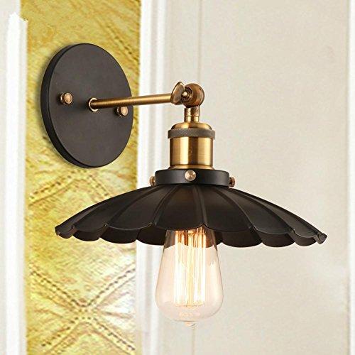 Bambus-schlafzimmer Kopfteil (Wandleuchte Wandlampe Nordic-Stil Schlafzimmer Kopfteil eisernen Treppen Balkon ein wenig schwarzes Kleid Regenschirm Wandleuchte)
