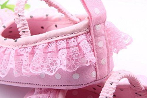 Spitzenbesatz Ykk Lauflernschuhe Mädchen Pink Schwarz Lace Baby 13 Smile 1zwdq5n1