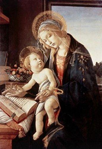 Sandro Botticelli - Madonna del Libro 1480 Sandro Botticelli (1444-1510/ Italian) Tempera on Wood Panel Museo Poldi Pezzoli Milan Poster Drucken (60,96 x 91,44 cm) -