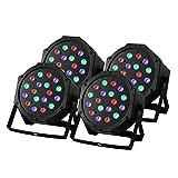FurMune Bühnenlicht LED Par Licht Stage Light 4PCS 18X3W Stage RGB Licht DJ Disco Party (4PCS 18X3W)