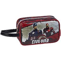 Karactermania Capitán América Civil War Bolsa de Aseo, 21 cm, Negro