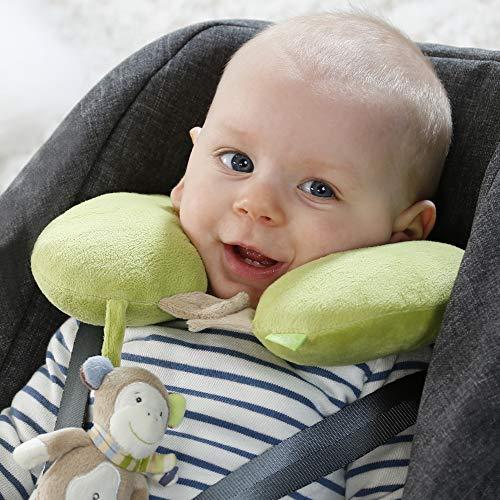 Nackenstütze Affe - Nackenkissen mit kleinem Rassel-Affen für Babys und Kleinkinder ab 6+ Monaten - Stützt und entlastet in Kinderwagen, Babyschale oder Auto - und, Stützt, RasselAffen, oder, Nackenstütze, Nackenkissen, Monaten, mit, Kleinkinder, kleinem, Kinderwagen, für, Fehn, entlastet, Babyschale, Babys, baby einschlafhilfe auto, Auto, Affe