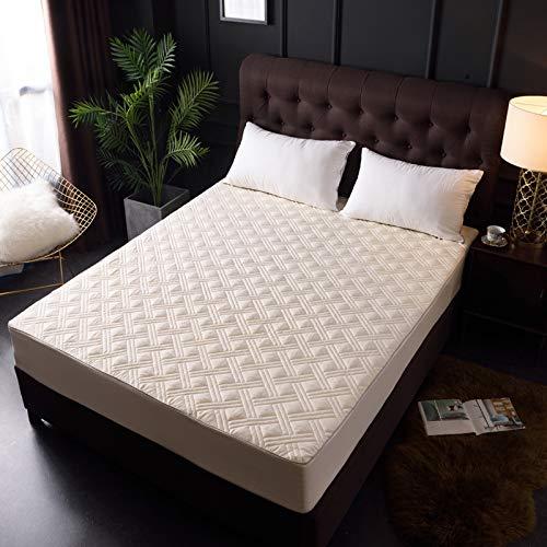 CHLCH Wasserdichter Matratzenschoner - atmungsaktive Matratzenauflage,Atmungsaktive wasserdichte Bettdecke aus Baumwolle in Jadefarbe 1,8 m Bett - Visco Pillow-top-matratze