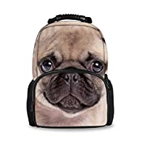 Coloranimal 3D Animals Dog Cat Pattern Backpack Women School Kids Bookbags