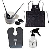 Hair Dye Coloring DIY Beauty Salon Tool Kit- Hair Tinting Bowl,Brush Comb,Ear Cover,Hair Salon Working Apron,Hair Coloring Cape,Spray Bottle For Salon Barbers College Professional Hair Coloring Bleaching Hair Dryers and Accessories (Hair Dye Coloring Set A)