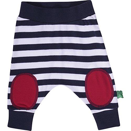 Fred's World by Green Cotton Baby-Jungen Hose Sailor Stripe Funky Pants, Blau (Navy 019392001), (Herstellergröße: 74) -