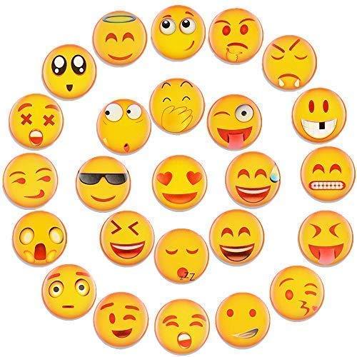 Emoji Magnete Kühlschrankmagnete Lustige Dekorative Kühlschrank Magnete Fridge Refrigerator Magnets Set Nette Küche Eisen Schließfächer Büro etc Zubehör Geeignet für Kleinkinder und Erwachsene 25PCS Zubehör Magnete