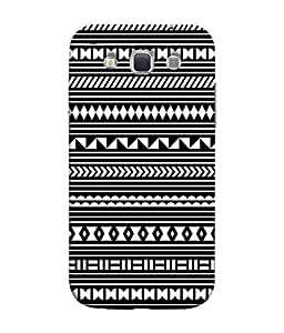 PrintVisa Designer Back Case Cover for Samsung Galaxy Win I8550 :: Samsung Galaxy Grand Quattro :: Samsung Galaxy Win Duos I8552 (Geometric pattern design :: Nice pattern design :: Digital pattern design :: Black and white colors pattern design :: Multi shape pattern design)