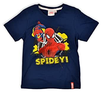 Boys Spiderman T Shirt Kids Tops Short Sleeve Top Brand New Age 3 4 6 8 Years
