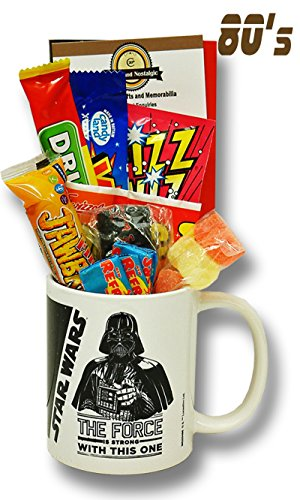 Star Wars - Darth Vader Mug with a Dark Side selection of 80's retro sweets