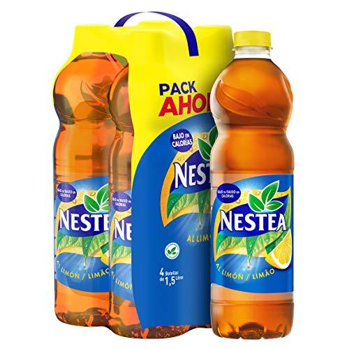 Nestea - Limon, Refresco de té sin gas, 1.5 l (Pack de 4), Botella de plástico