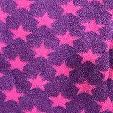 Pet Four Seasons Universaldecke Hundekatze Bett Schlafmatte Dual Use Mikrofaserdecke Kuscheldecke Motiv Pfotenabdrücke Nette Blumenpfote Hund Welpen Weiche Für Hunde Fleece Bett Warm für Hunde Badezimmer auf und Bodenmatte Haustiere (60x70cm, Hot pink)