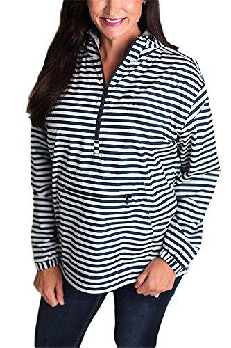 Giacca antipioggia pullover con maniche lunghe monogramma Zipper Baron banda