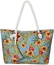 Bolsa de Playa Grande con Cremallera 58 x 38 x 18 cm diseño marítimo Shopper Bolsa de Hombro Estilo de yate (Y