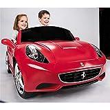 MINICARS Elektroauto Kind Ferrari California 2-Sitzer 147 cm 12V Rot