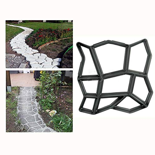 Malayas®Betonform  Gießform Plastikform Schablone 42.5*42.5*4cm, für Beton/ Natursteinpflaster/ Kopfsteinpflaster/ Pflastersteine/ Terrassenplatten/ Trittplatten/ Gehwegplatten, für Garten Plasterform