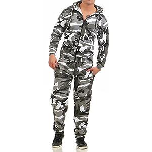 Unbekannt Game Herren Jogginganzug Camouflage Anzug Set Army Sportanzug Trainingsanzug