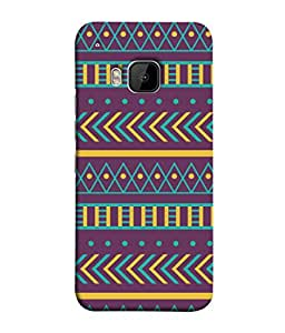 HTC One M9, HTC One M9S, HTC M9 Back Cover Tribal Design Design From FUSON