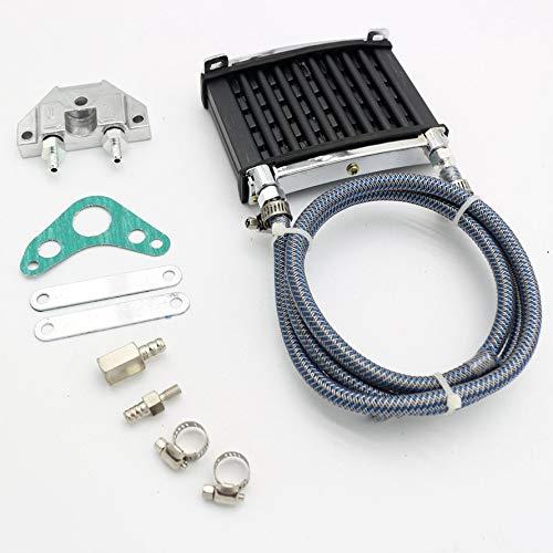 HoganeyVan Radiador de enfriamiento del refrigerador de aceite universal del motor para la motocicleta de la bici de la suciedad del rastro de 125cc 140 150cc