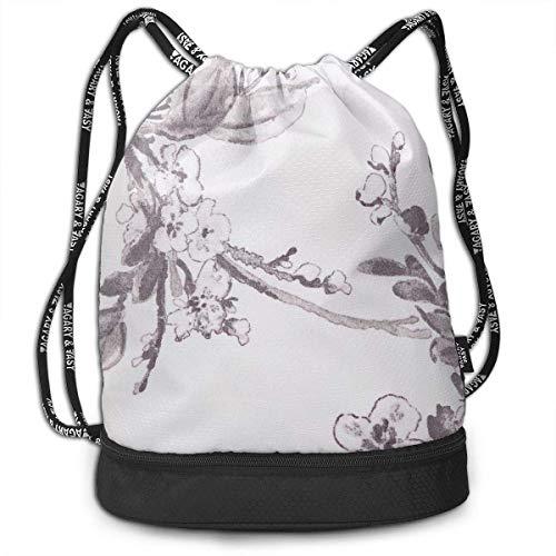 Rucksäcke,Sporttaschen,Turnbeutel,Daypacks, Drawstring Backpack Bundle Gym Bike Duffel Bag Knapsack Fashion Waterproof Sport Bag for Men Woman School Travel Magical Big Turtle Print Pack -