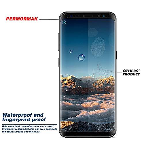PERMORMAK 2er-Pack Displayschutzfolie, Premium-HD-Hartglas, HD-Klarheit, Kratzfest, case Friendly, Anti-Bubble-3D-Touch-Genauigkeitsfolie -