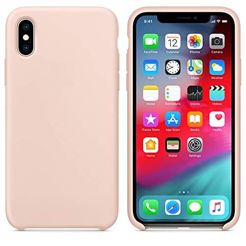 Arrivly Silicone Case Für Original Apple iPhone X Silikon Hülle Case Schutzhülle Cover Ultra Slim Dünn Silikonhülle (Sandrosa) -