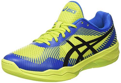 Asics Volley Elite FF, Scarpe da Pallavolo Uomo, Multicolore (Energy Green/Directoire Blue/Black), 40.5 EU