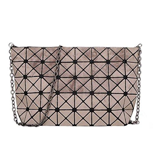 Matte Geometrische Falttasche Diagonale Paket Mode Einfache Umhängetasche Brown