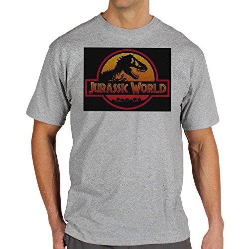 Jurassic-World-Movie-2015-Background.jpg Herren T-Shirt Grau