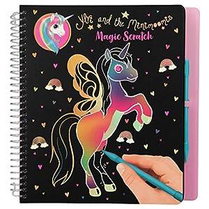 Depesche Libro para Colorear Magic Scratch, Ylvi y los Minimoomis Einhorn, 10897, Aprox. 19,5 x 20 x 2 cm, Multicolor