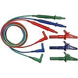 unfused alambre de 3puntas de prueba–apto para Megger MFT1710, MFT1720, mft1730& MFT1735multifunción probador, color rojo, azul y verde