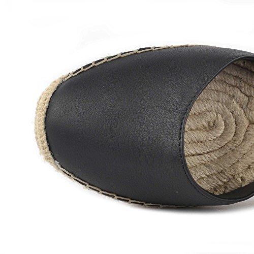 Ash Footwear Scarpe Whitney BIS Sandali in Pelle Nero Donna Black