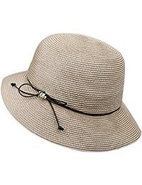 a6eba167947e3 QZ HOME Color De Golpe Ligero Sombrero De Paja Visor Sombrero para El Sol  Primavera Y Verano Sra.