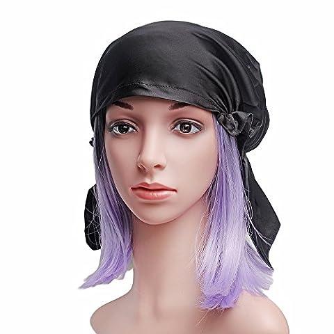 Emmet 100% Mulberry Silk Night Sleep Bonnet Cap Évitez les cheveux tombant et gardez les styles de cheveux Femmes Hat 19 Momme Soft Respirant Taille libre avec ruban élastique Diverses couleurs disponibles 100%