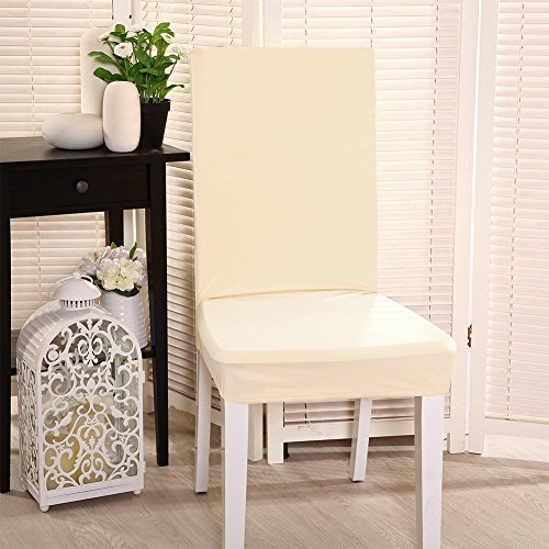 2pcs Stretch Short Removable Chair Seat Cover Slipcovers