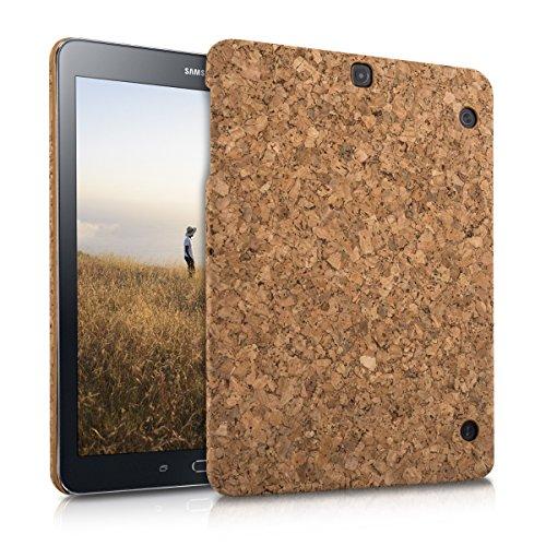 kwmobile Funda de corcho para Samsung Galaxy Tab S2 9.7 - Case Cover funda protectora de corcho en marrón claro