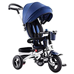 GSDZSY - 4 IN 1 Children Tricycle, 120 ° Adjustable Seat, Baby Can Sit Or Recline, Seat Is Comfortable And Easy To Use,1-6 Years Old   8