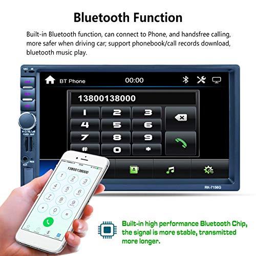 RK-7156G Voiture MP5 RK-7156G 2Din 7 inch Auto MP5 Bluetooth FM/RDS Autoradio HD Tactile GPS Navigation Voiture Lecteur multimédia Support USB TF