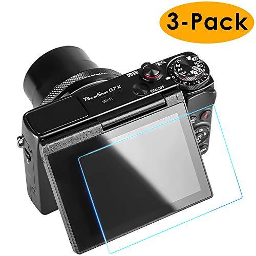 Protecteur D'écran Canon G7X Mark II (3 paquets), CAVN 9H HD-Clear Film Anti-épreuve Anti-épreuve à l'épreuve des Empreintes Digitales Compatible Avec Canon G9X Mark II Caméra DSLR, Garantie à Vie